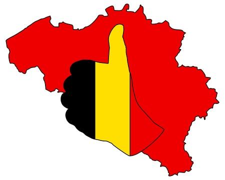 Belgian hand signal Banco de Imagens