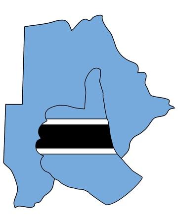 botswana: Botswana hand signal