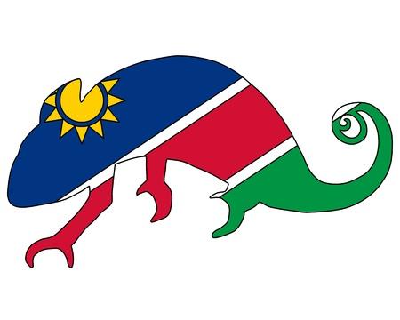 namibia: Namibia Chameleon Stock Photo