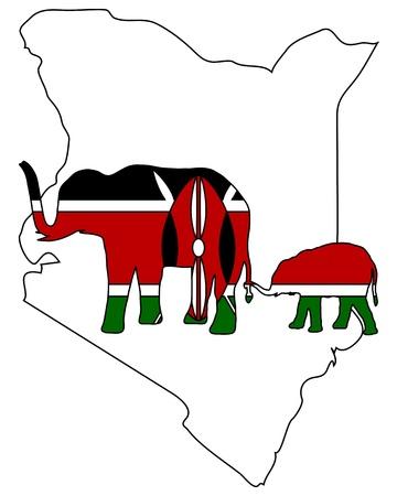 Kenya elephants photo