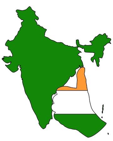 India hand signal Ilustração