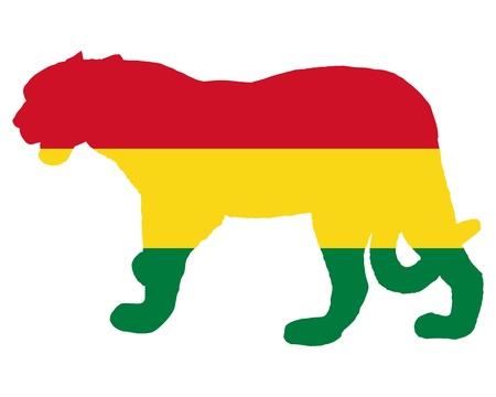 panthera: Jaguar Bolivia Vettoriali