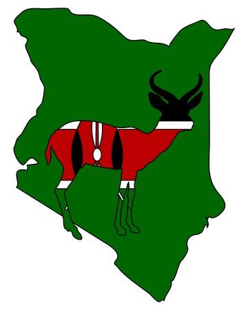 kenya: Kenya antelope Illustration