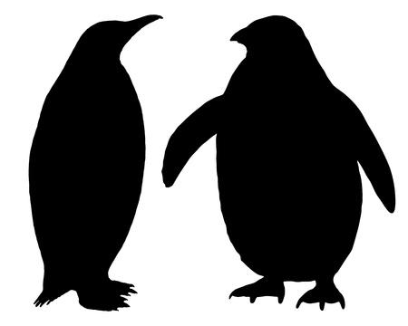pinguino: Silueta de ping�ino