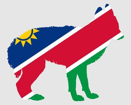namibia: Jackal from Namibia Illustration