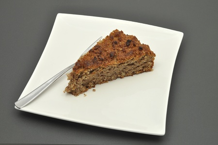 Slice of wholemeal cake photo