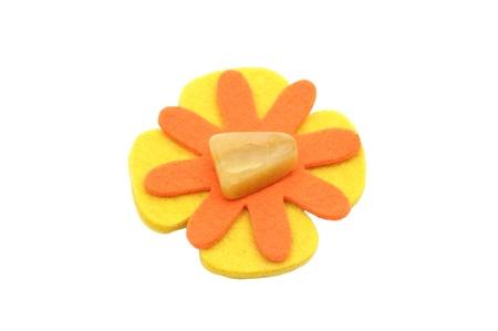 calcite: Orange calcite on felt