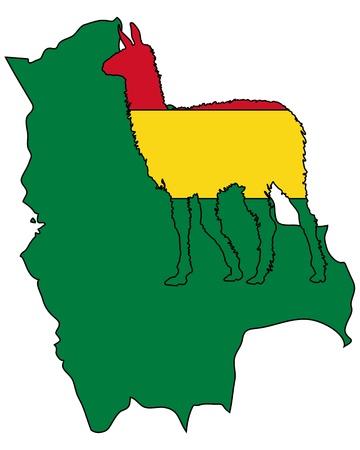 the lama: Lama Bolivia Illustration
