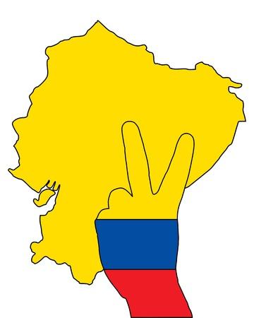ecuador: Ecuador hand signaal