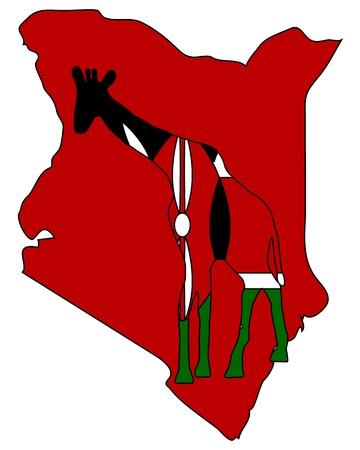 kenya: Kenya giraffe Illustration
