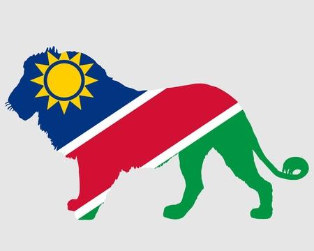 namibia: Lion Namibia Illustration