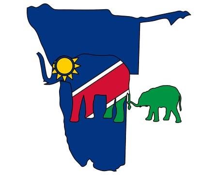 namibia: Namibia elephants