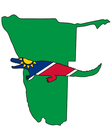 nile: Nile crocodile Namibia Illustration
