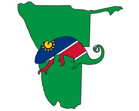 namibia: Namibia Chameleon Illustration
