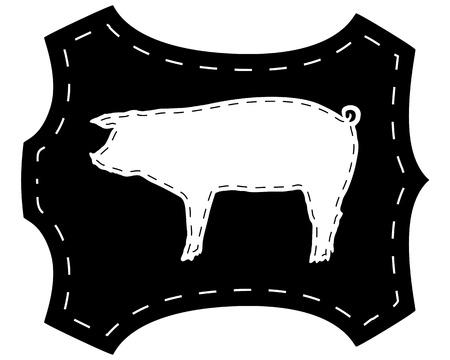 pigskin: Pigskin silhouette Illustration
