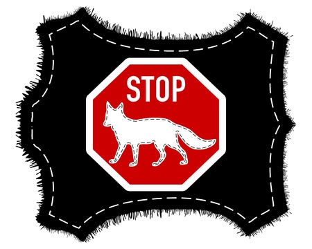 Stop fox fur Vector