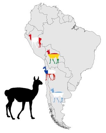 guanaco: Guanaco range map