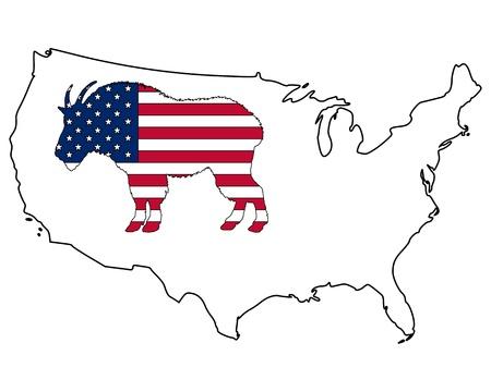 Mountain goat USA Stock Vector - 9198366