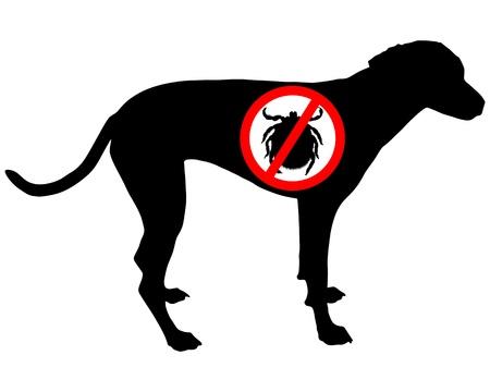 the bloodsucker: Dog prohibition sign for ticks