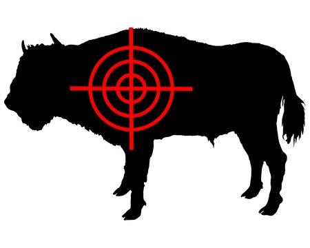 cattle wires: Bison crosshair