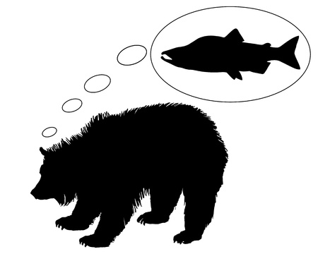 Grizzly bear diet Stock Vector - 9287316