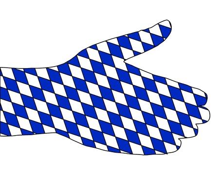 Bavarian handshake Stock Vector - 9287322