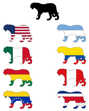Jaguar flags Vector