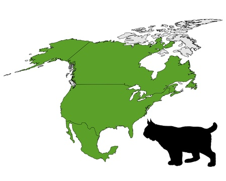 Lynx の範囲の地図