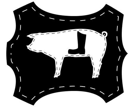 pigskin: Pigskin boots  Illustration