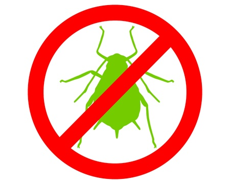 aphid: Aphid prohibition sign Illustration