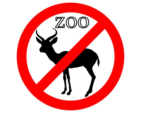 Antelope in zoo prohibited Stock Vector - 9348594