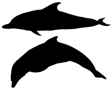 Dolphins silhouettes Stock Vector - 9348126
