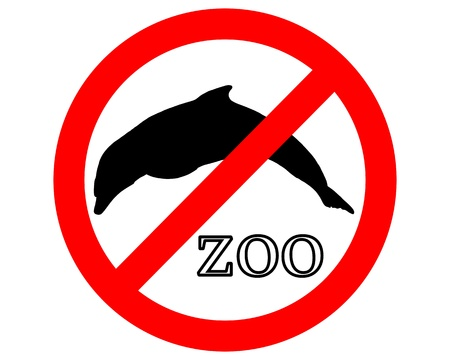 petting zoo: Dolphins in zoo prohibited Illustration