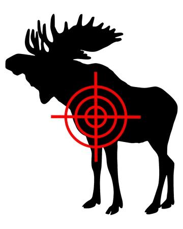 Moose crosshair Vector