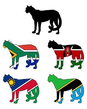 acinonyx jubatus: Cheetah Flags
