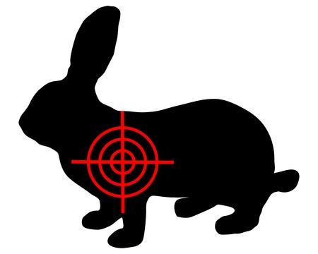 silhouette lapin: Hare crosslines