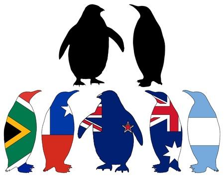 flightless: Penguin flags