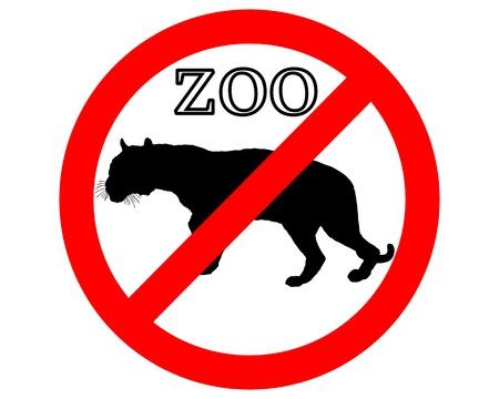 panthera: Tigre nel giardino zoologico vietato
