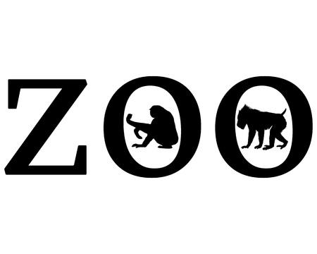 mandrill: Animali da Zoo Vettoriali