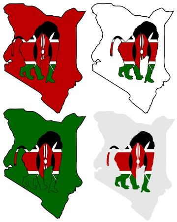 mandril: Kenia Baboon