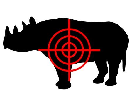 Black Rhinoceros crosshair Vector