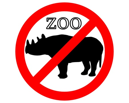 petting zoo: Rhinoceros in zoo prohibited