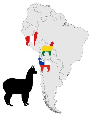 Alpaca range map Vector