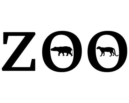 panthera: Animali da Zoo Vettoriali
