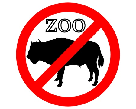 aviary: Bison in zoo prohibited Illustration