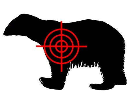 Polar bear crosshair Vector