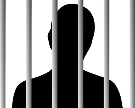 Human behind bars Stock Vector - 9492056