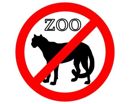 acinonyx jubatus: Cheetah in zoo prohibited Illustration