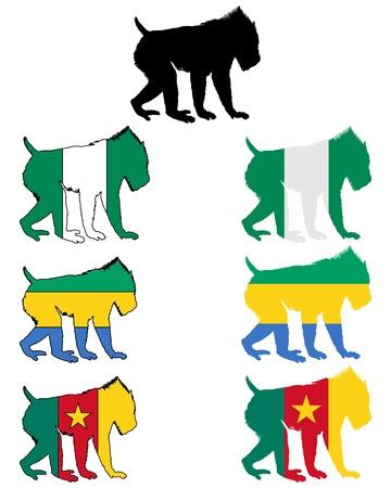 Mandrill flags Stock Vector - 9492200