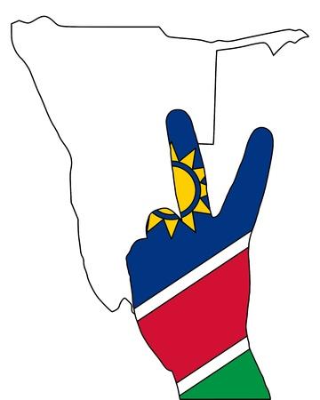 namibia: Namibia hand signal